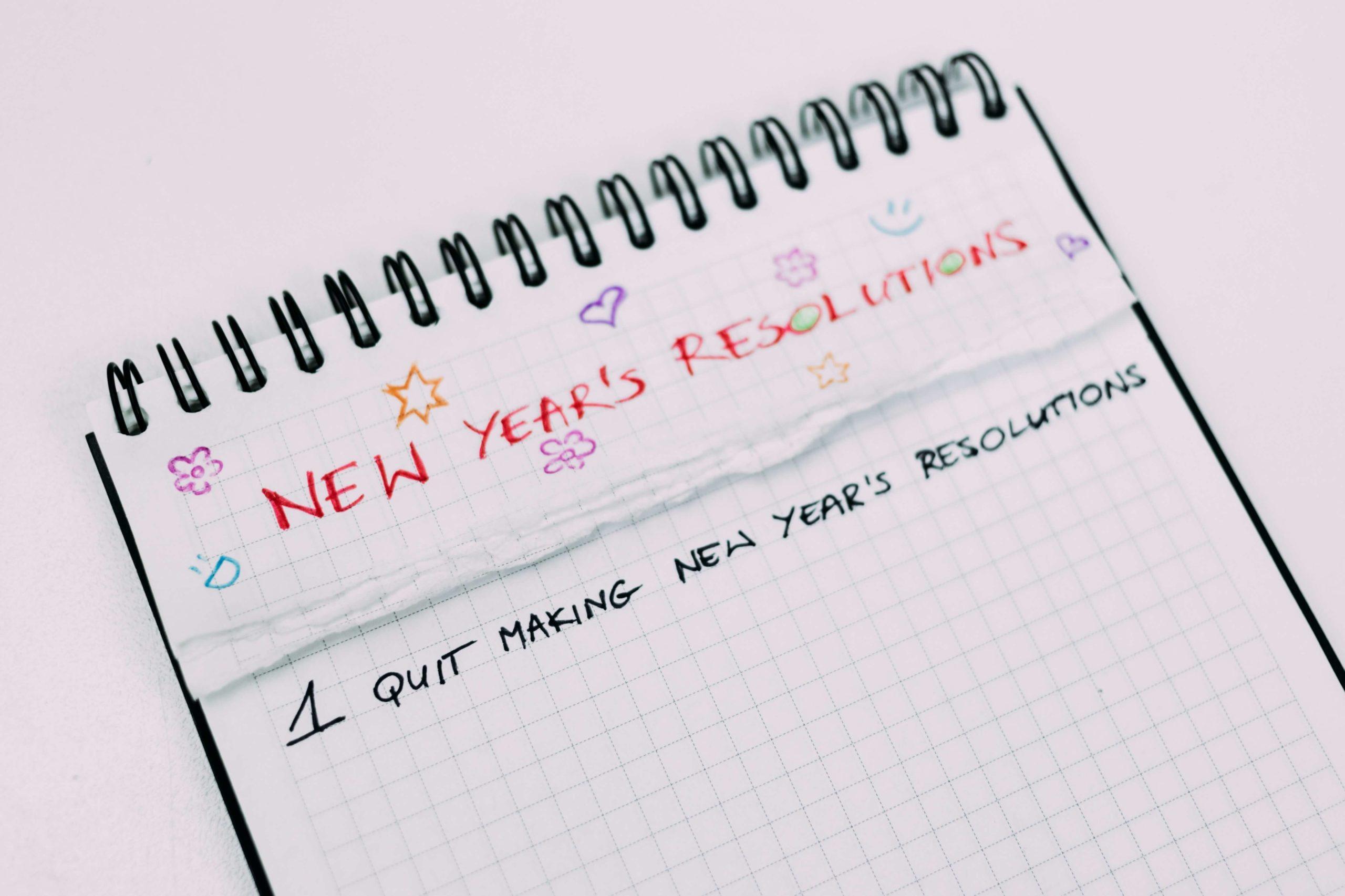 Neujahrsvorsatz: Keine Vorsätze mehr!