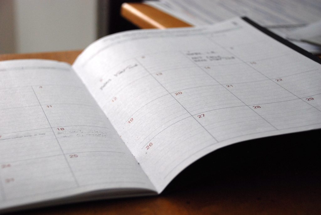 day planner 828611 1920 1024x685 - Dranbleiben: Ziele sind wie Treppensteigen