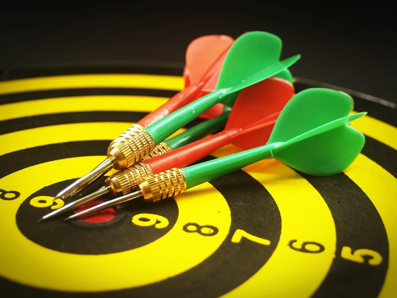 Wie Dartpfeile: Tipps, Ziele zu erreichen