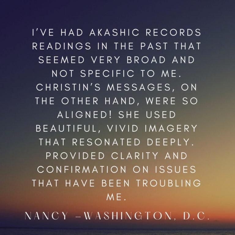 Testimonial Nancy Akashik Records1 768x768 - Akasha Chronik